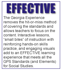 An Effective Learning expereince that meets all the GPS Standards (and Elements) for Social Studies!