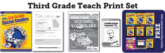Georgia Experience 3rd Grade Teach Print Set